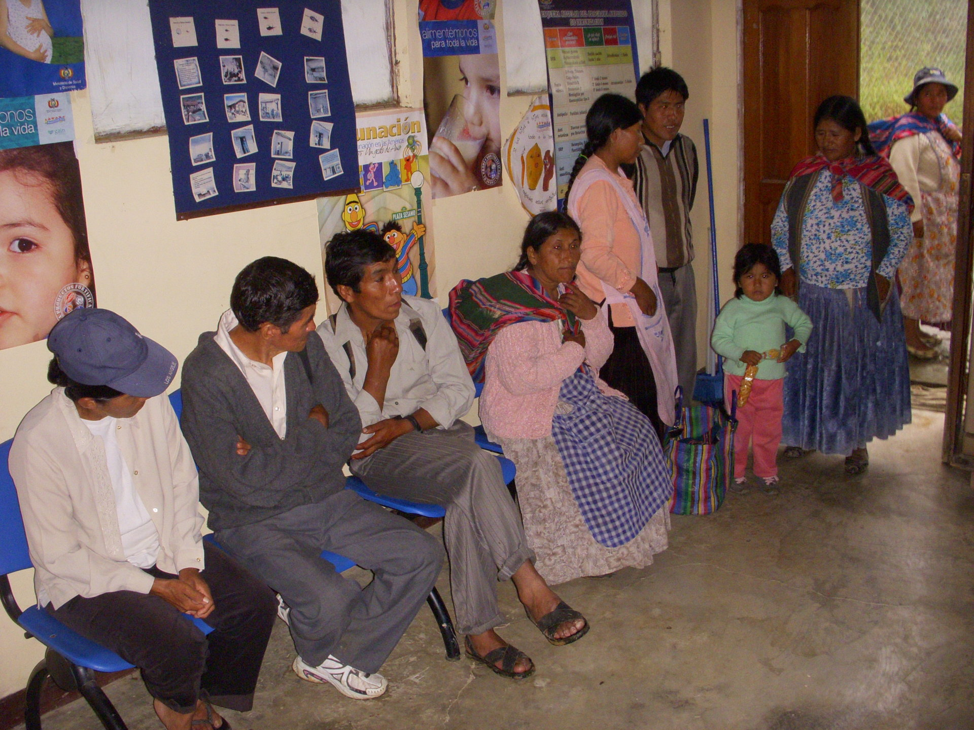 Patients in Suapi waiting for dental and medical care