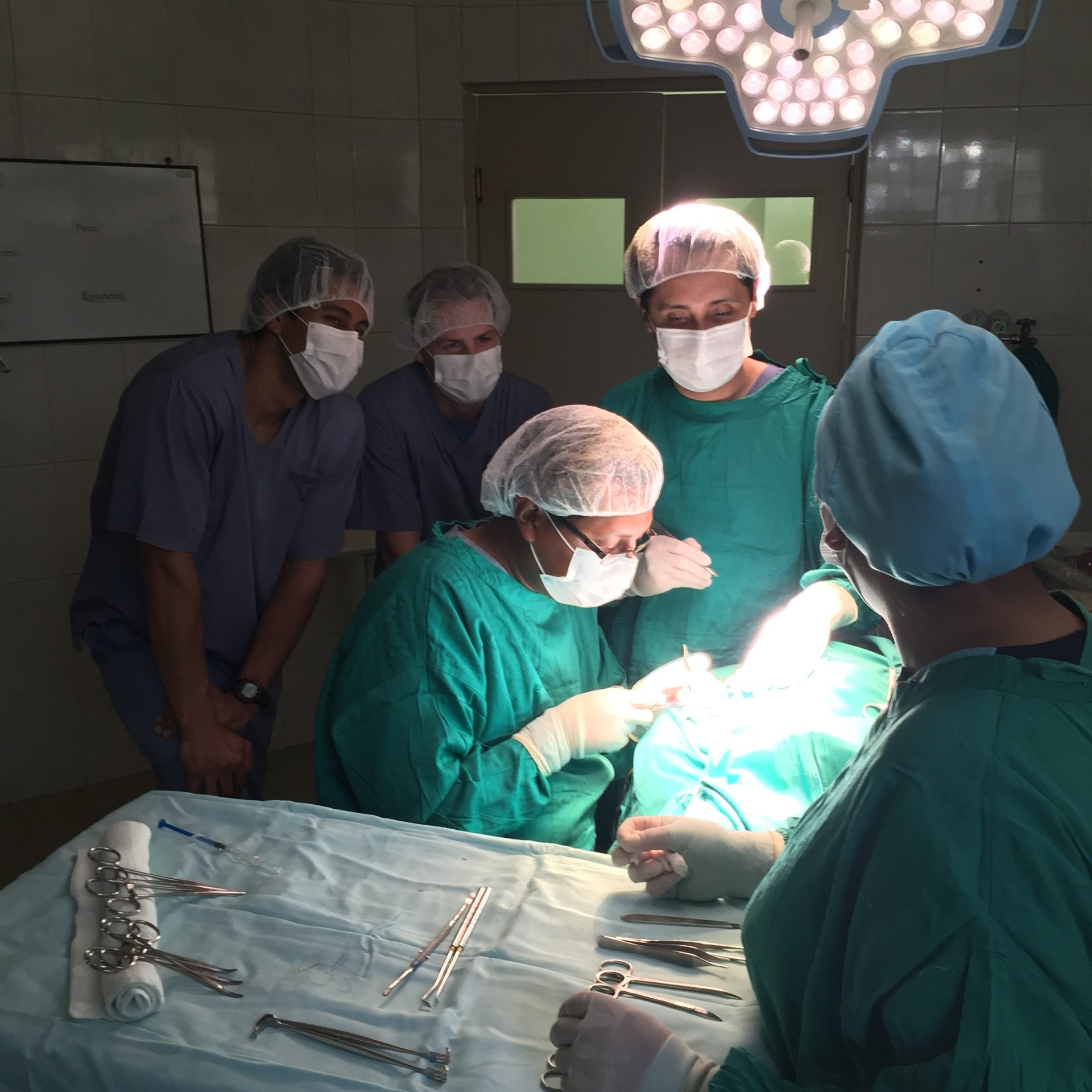 Observing a cleft-lip correction surgery