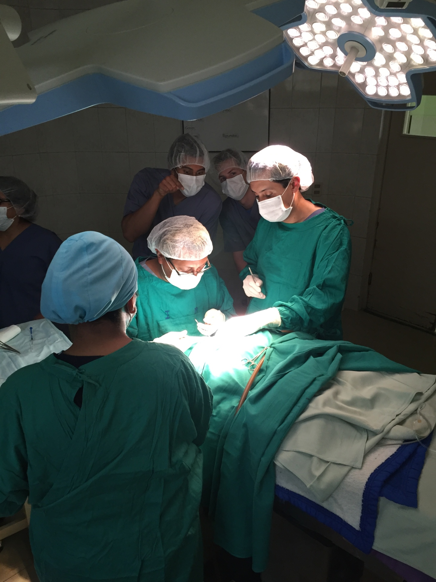 Observing a cleft lip correction surgery